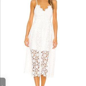 NWOT White Lace Dress | M